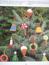 JEAN GREENHOWE TOY / DOLL KNITTING PATTERN CHRISTMAS TREE TRIMS Bell Candle