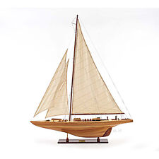 """America's Cup Endeavour 1933 Yacht Wood Model 40"""" Sailboat J Boat New"""