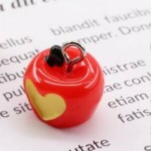 10pcs 3D Red Apple Fruit Resin Charms Necklace Bracelet Jewelry make Accessory