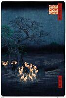 Hiroshige  New Years Eve Foxfire  61cm x 91.5cm  GN0893