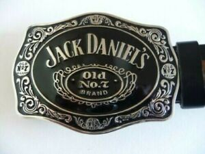 """JACK DANIELS OLD N0 7 BUCKLE BELT 1 1/2"""" THICK UP TO 36"""" WAIST"""
