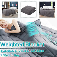 Soft Weighted Blanket Breathable Sensory Sleep Reduce Anxiety For Adult Bed Sofa