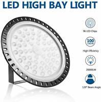200W UFO LED Hallenleuchte Industrielampe Hallenstrahler Fluter Highbay Weiß DHL