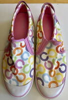 """New Womens Coach A1328 """"Beale"""" Classic Logo Beige Slip-on Casual Size 10 B Shoes"""