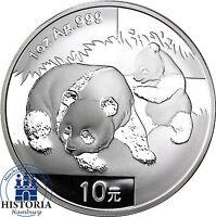 China Panda 2008 Silber Unze 10 Yuan Silbermünze in Münzkapsel