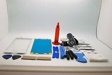 Samsung S6 Edge Bianco Kit di Riparazione Vetro Schermo Frontale, Colla Torcia