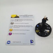 Heroclix Batman: Streets of Gotham set GCPD Motor Officer #049 Super Rare w/card