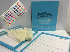 120 Tip Blue Nail Colour Chart Display Book Fop UV/LED Gel Polish BUY 2 = GIFT!