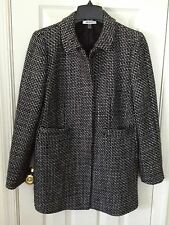 DKNYC Wool Blend Black Houndstooth Coat, size 10 - FREE SHIP with Buy-It-Now!!