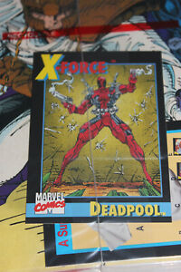 X-Force #1 w/ Deadpool Rookie Card NM Reverse Negative UPC HIGH GRADE CARD!