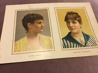 Antique Chromolithograph - Duchess of Leinster & The Vienna Beauty - 1888