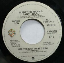 Rock Promo 45 Manfred Mann'S Earth Band - Lies (Through The 80'S) (Edit) / Lies