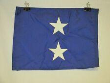 flag1234 1970's-80's Us Navy 2 Star Admiral car flag pennant nylon W11E