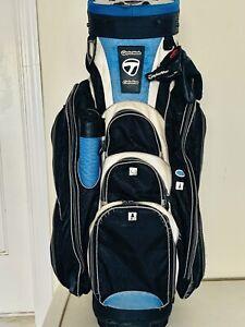 TaylorMade CATALINA Blue/White/Black Golf Cart Bag 14 Way Dividers Single Strap