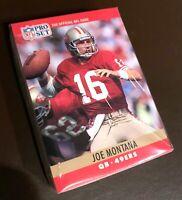 50) JOE MONTANA San Francisco 49ers 1990 Pro Set Football Card #293 LOT