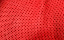 PERFORATED RED LEATHER OFFCUTS CRAFT PIECES 30cm X 30cm REPAIRS POUCH