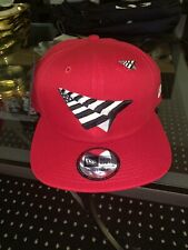ROC NATION SNAPBACK RED OLD SCHOOL HAT NEW ERA WITH PIN  JAY-Z HATPAPER PLANES