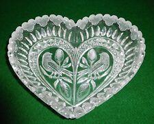 "HOFBAUER Byrde Crystal Heart Shape Candy/Nut Dish 9"""