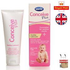 New Sasmar Conceive Plus Fertility Lubricant Sperm Friendly 75ml Brand New UK