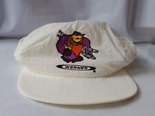 Werner Ladder Vintage Painter Hat Snapback White Adjustable