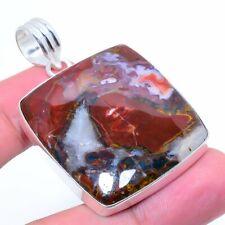 "Gift Jewelry Pendant 2.25"" g894 Laguna Lace Agate Gemstone Handmade"