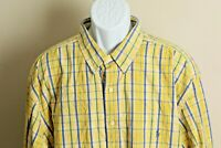Ralph Lauren Men's yellow, blue and green plaid long sleeve shirt 2XLT Tall 2XL