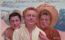 # NAPOLI: 1900 COSTUMI - GIOVANI RAGAZZI- litografia a colori