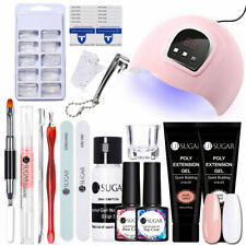 UR SUGAR Poly UV Gel Set 54W Nail UV Lamp Top Base Brush Nail Extension Tool Kit