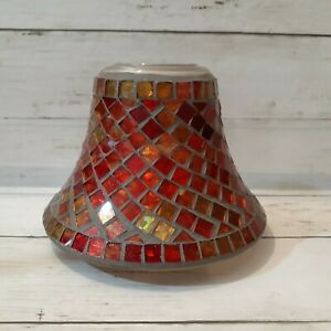 Rare Red/Gold Mosaic Yankee Candle Topper - 2012 Fall Christmas