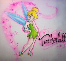 Airbrush Tinkerbell Inspired T-shirt Design Personalized option with ANY name