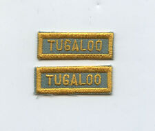 2 Vintage 1960s Tugaloo Georgia Bowling Patches