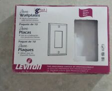 8 Pack 1-Gang Unbreakable Decorator/Decora/Gfci Wall Plate Outlet Cover, White
