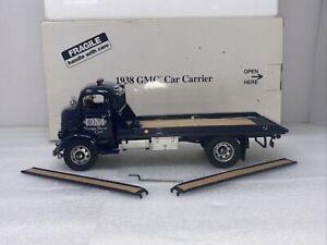 1/24 Danbury Mint 1938 GMC Flatbed Car Carrier Truck Blue RARE