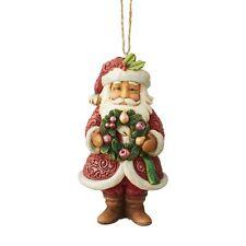 Enesco H9 Heartwood Creek Jim Shore Wonderland Santa W/ Wreath Ornament 6004193