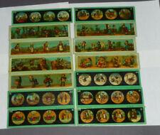 14 alte Glasbilder Laterna Magica Märchen Kinder Bing Carette (19A)