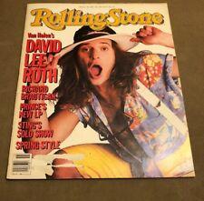 David Lee Roth, Van Halen, Rolling Stone Magazine #445 , April 11, 1985