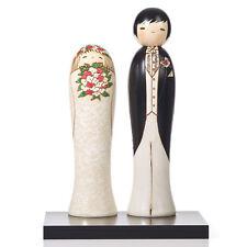 Bride and Groom Kokeshi Doll Wedding Gift Set