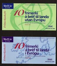 Iceland 1995 Two Europa Peace and Freedom Stamp Booklet's SB22 and 23 UM