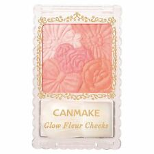 CANMAKE 01 Peach Glow Fleur Cheeks Blush Powder with Brush  from Japan New