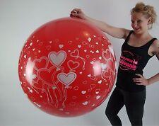 "1 x Unique 36"" Riesenluftballon HERZEN / HEARTS *Globos*"