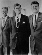 8 x 10 of President John F. Kennedy with brothers Robert & Teddy & dog Dunker