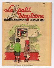 Carte Postale Tintin. Le Petit Vingtième n°25 du 23 JUIN 1938 - Quick et Fluoke