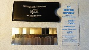 Gar Surface Roughness Scale S-22 Microfinish Comparator