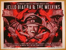 2005 Jello Biafra & The Melvins - Silkscreen Concert Poster by Richie Goodtimes