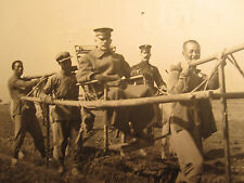 ANTIQUE CHINA PEKING 1912 ? ARMY GENERAL? ON LITTER TAXI USMC GREAT WALL PHOTOS