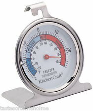 Kitchen Craft Stainless Steel Fridge Freezer Traditional Dial Thermometer
