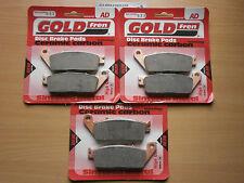 Pastillas DE FRENO GOLDFREN DELANTERAS Y TRASERAS conjuntos (3x) para: Honda CBR 1000 FM FN Fireblade