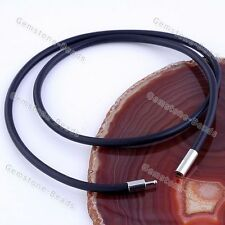 Necklace Jewelry Findings Free shipping Hot 5x Black Rubber String Cord Link