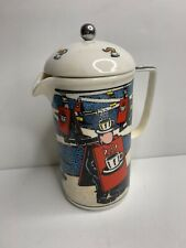 CHALEUR Cafe society Scene Modern Art  French Coffee Press RARE