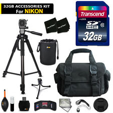 32GB ACCESSORIES Kit for Nikon D3200 w/ 32GB Memory + Large Case + MORE